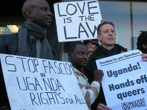 Ugandan protest against anti-gay law prior to passing