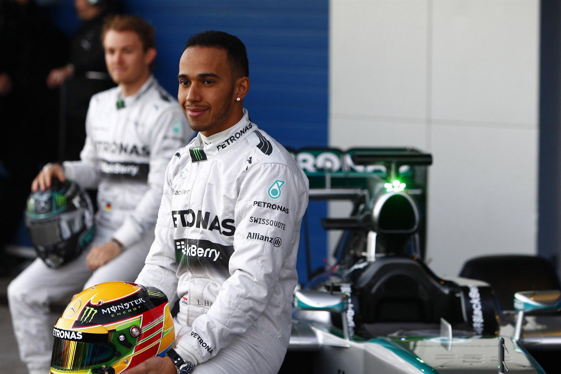 Hamilton and Rosberg - Mercedes F1