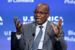 South Africa's President Jacob Zuma participates in a panel discussion on the future of Africa during the U.S.-Africa Business Forum in Washington August 5, 2014. REUTERS/Jonathan Ernst