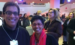 Outgoing Sekunjalo chairman Iqbal Surve and wife Nadia, at the World Economic Forum in Davos.