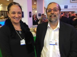 SA's Former Telecoms Minister Yunus Carrim (right) with City Press editor Ferial Haffajee