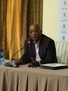 SA President Jacob Zuma - addressing editors at The Presidential Guesthouse