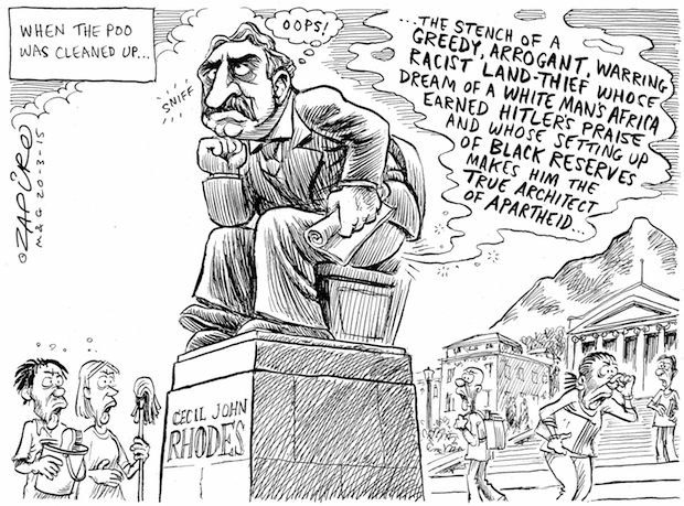 SA's top cartoonist Zapiro offers his thoughts on UCT's Rhodes statue debate. More of his work at  http://www.zapiro.com/