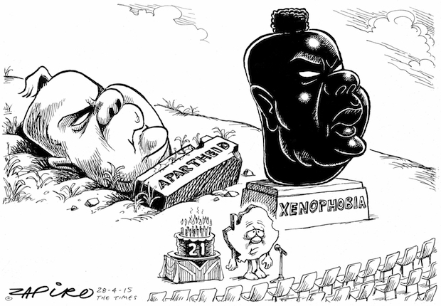 Cartoonist Zapiro's brilliant take on one of the thorniest challenges SA faces. More at Zapiro.com