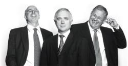 left to right - GT Ferreira, Paul Harris, Laurie Dippenaar