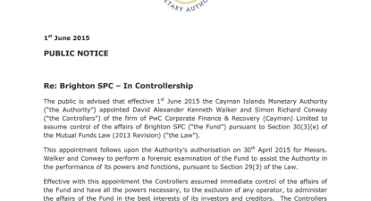 Another Belvedere limb severed as Cayman authorities take control of Brighton SPC