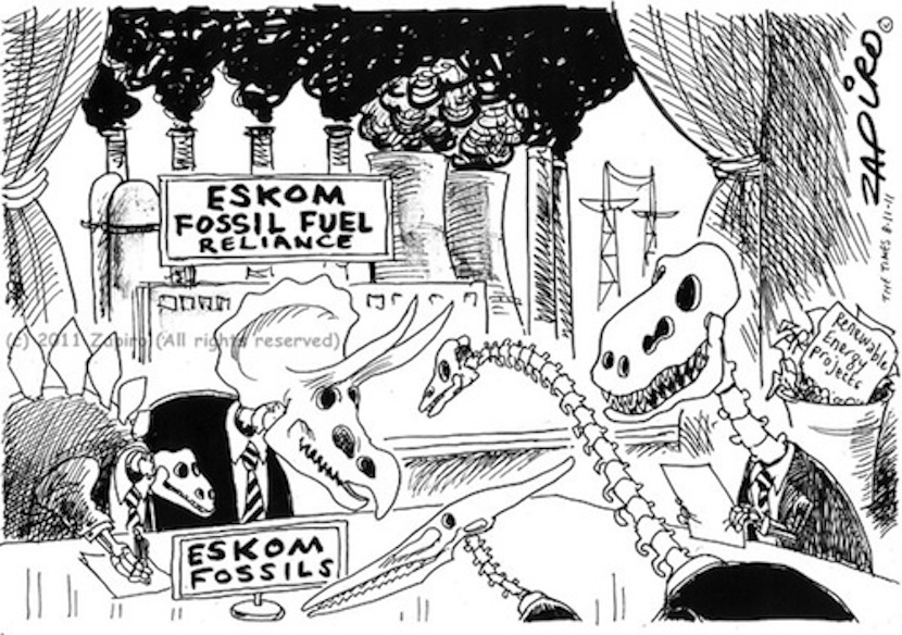 A classic on the subject of fossil fuels from Zapiro SA's top cartoonist. More at Zapiro.com