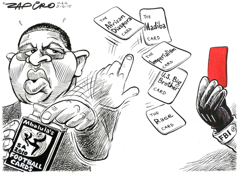 How Zapiro sees SA's Sports Minister who only opens his mouth to change feet. More at Zapiro.com