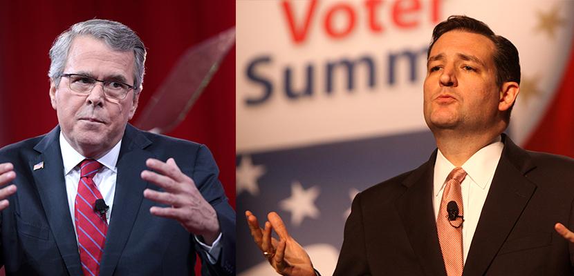 US Presidential candidates Cruz & Bush lead race for billionaire class