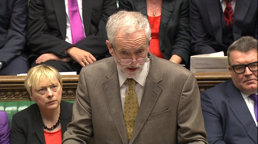 Jeremy Corbyn, the new leader of Britain's opposition Labour Party takes part in his first Prime Minister's Questions in the House of Commons in Westminster, London, 2015.The new leader of Britain's opposition Labour Party, veteran leftist Corbyn, confronted Prime Minister David Cameron in parliament and said the house's raucous weekly question-and-answer session should be less theatrical and more about hearing ordinary people's voices. REUTER/Parliament TV/Handout via Reuters