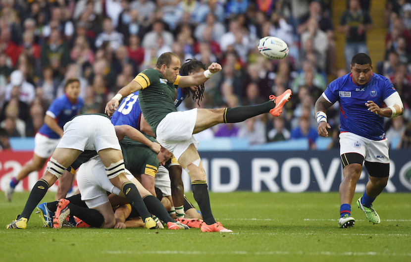 Rugby Union - South Africa v Samoa - IRB Rugby World Cup 2015 Pool B - Villa Park, Birmingham, England - 26/9/15 South Africa's Fourie du Preez in action Reuters / Rebecca Naden Livepic