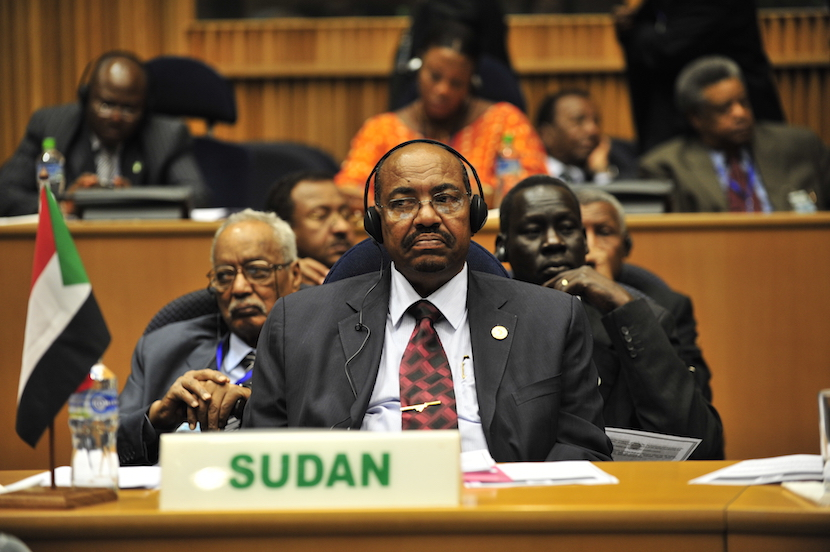 Omar Hassan Ahmad al-Bashir, the president of Sudan, listens to a speech during the opening of the 20th session of The New Partnership for Africa's Development in Addis Ababa, Ethiopia, Jan. 31, 2009. The partnership's primary objective is to eradicate poverty in Africa and bring long-term and sustainable political, economic, and social change to the continent. (U.S. Navy photo by Mass Communication Specialist 2nd Class Jesse B)