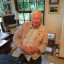 """Author RW """"Bill"""" Johnson behind his desk at home in Cape Town. His best seller How long will SA survive? has topped the non fiction lists for the past year."""