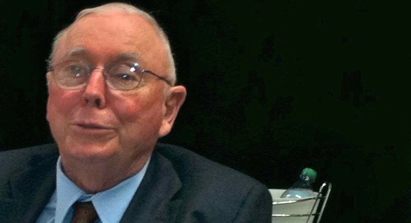 Warren Buffett's long-time business partner, Charlie Munger