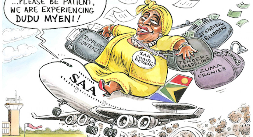 """Why 7 SAA bosses in 4 years? Chairman Myeni demands CEOs """"feed me"""" or fired"""