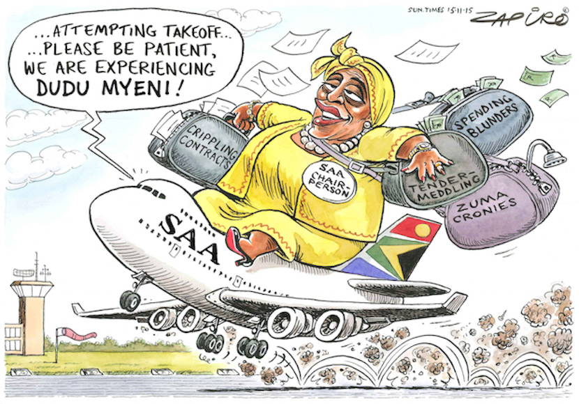 "Chairman of the Jacob Zuma Foundation Dudu Myeni - real life example of the way ""entrepreneurial politicians"" pull State levers of power for personal benefit."