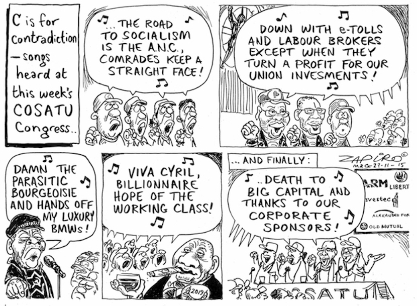 SA's brilliant cartoonist Zapiro tells the story of socialist contradictions - for more of his magic click here.