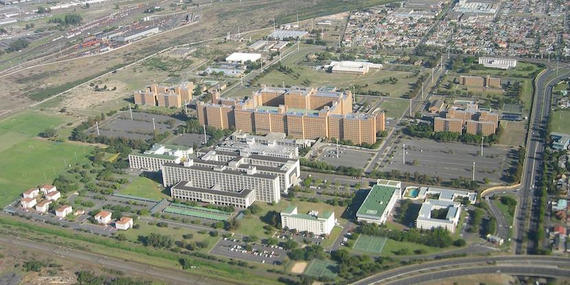 An aerial view of Stellenbosch University's Tygerberg medical campus.