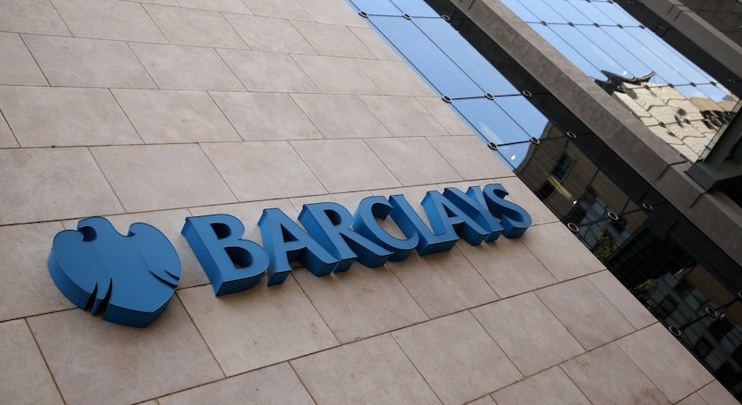 A Barclays logo is pictured outside the Barclays towers in Johannesburg December 16, 2015. REUTERS/Siphiwe Sibeko