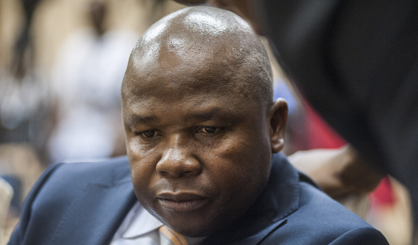 David van Rooyen, South Africa's incoming finance minister, pauses during his swearing in ceremony at the Union Buildings in Pretoria, South Africa, on Thursday, Dec. 10, 2015. The rand fell for a sixth day in the longest streak of losses since November 2013, stocks slid and bond prices tumbled the most on record after South African President Jacob Zuma fired Finance Minister Nhlanhla Nene and replaced him with a little-known lawmaker. Photographer: Waldo Swiegers/Bloomberg