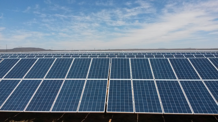 Rows and rows of solar panels. PiA solar laid its 1 millionth panel in Africa at it's De Aar plant on December 3, 2015.