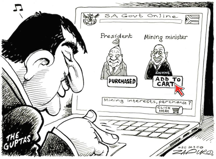 Zapiro nails it - as usual. For more Zapiro magic, click here.