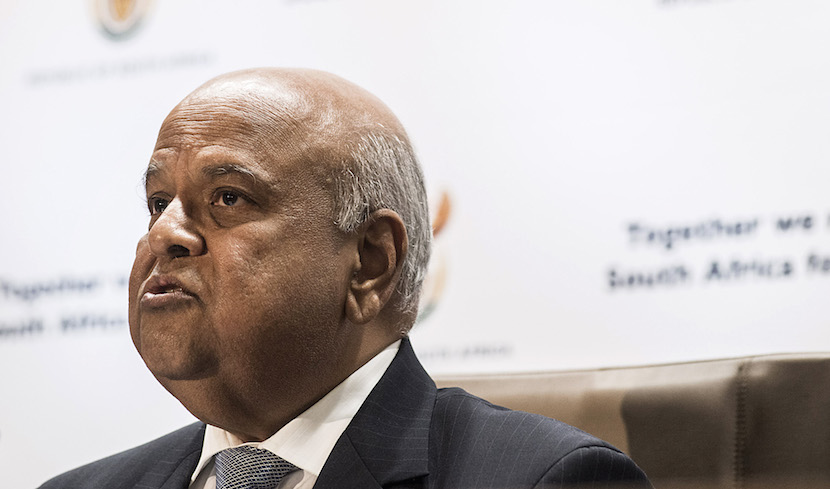 Pravin Gordhan, South Africa's new finance minister, speaks during a media briefing in Pretoria, South Africa, on Monday, Dec. 14, 2015. South Africa's government was left trying to shore up credibility after President Jacob Zuma's debacle over who should run the finance ministry called into question his ability to oversee the economy. Photographer: Waldo Swiegers/Bloomberg