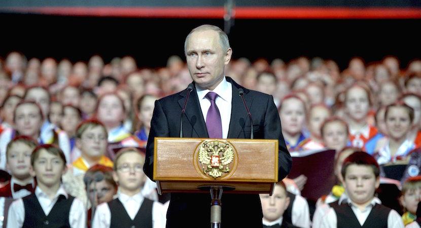 President Vladimir Putin delivers a speech during a concert of the Children's Choir of Russia in Moscow, Russia, December 25, 2015. Picture taken December 25, 2015. REUTERS/Alexei Druzhinin/Sputnik/Kremlin