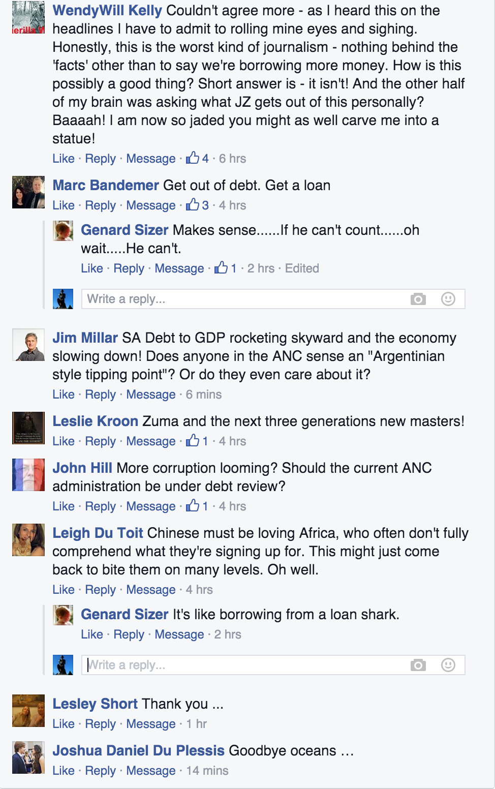 Comments on China loan