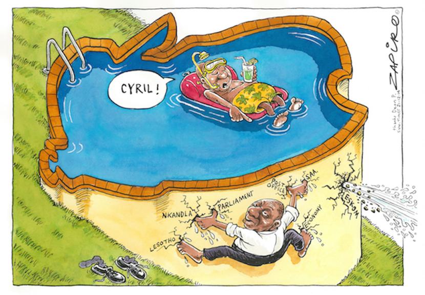 How SA's leading cartoonist Zapiro views Deputy President Cyril Ramaphosa's current role. For more Zapiro magic, click here.