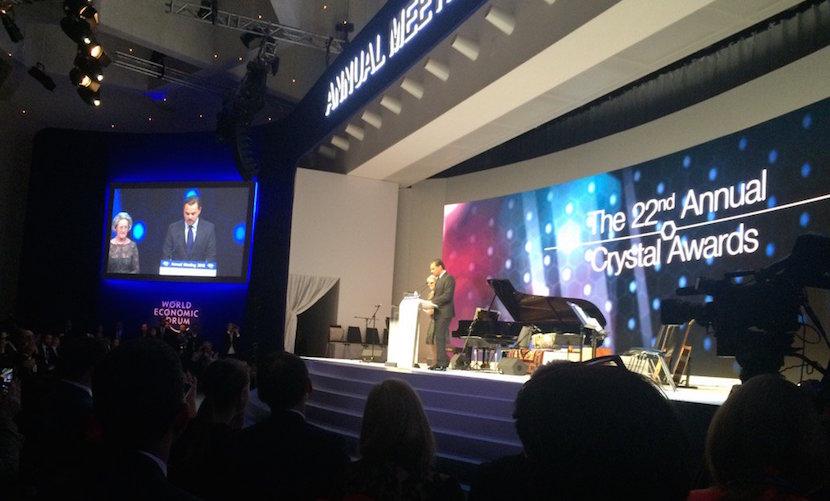Leonardo DiCaprio highlights ocean protection at the World Economic Forum in Davos 2016