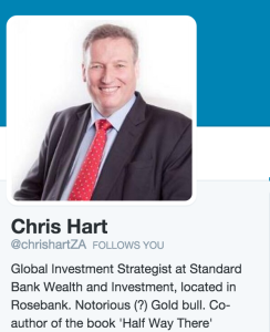 Hart's page on twitter