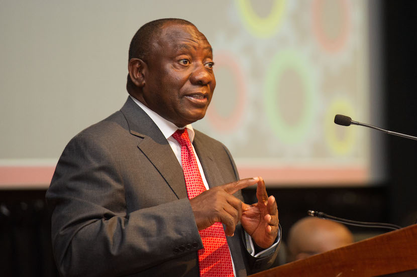 Deputy President Cyril Ramaphosa attends the 20th Nedlac Annual Summit at the CSIR Convention Center in Pretoria, Gauteng Province. 11/09/2015.