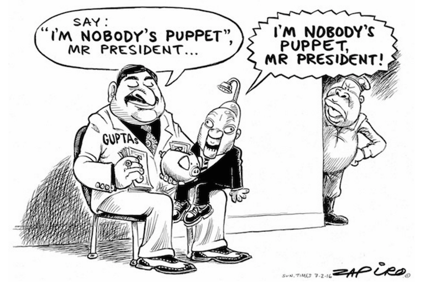 """I'm nobody's puppet"". Some more magic from Zapiro.com."