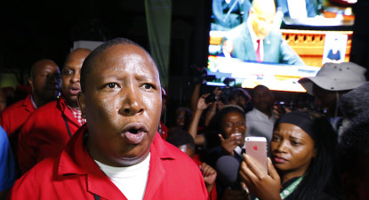 Malema's 'real' State of the Nation. Zuma must leave or be impeached.