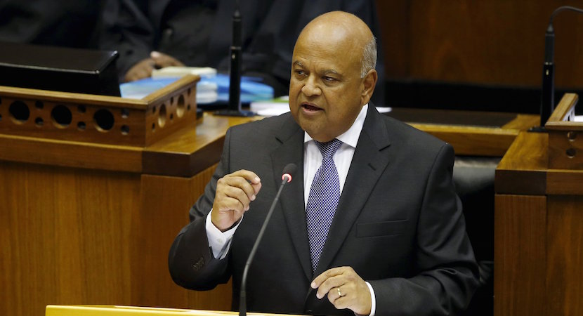 South Africa's Finance Minister Pravin Gordhan delivers his 2016 budget address to the parliament in Cape Town, February 24, 2016. REUTERS/Mike Hutchings