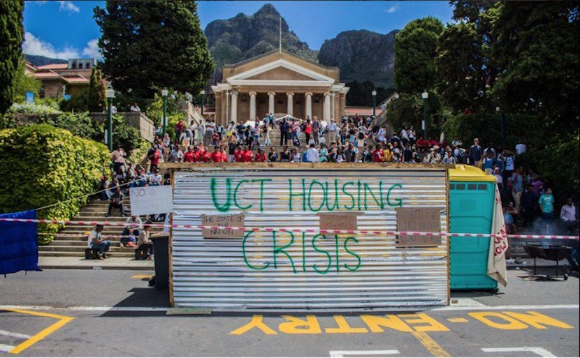The protest shack that is no more - pic from Twitter.