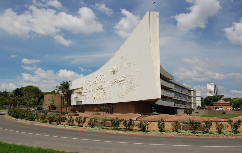 The admin building at the University of Pretoria, called 'The Ship'.
