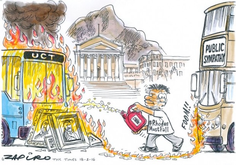 Zapiro's take on the UCT student protests - for more of the cartoonist's magic, click here.