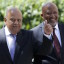 South Africa's Deputy Finance Minister Mcebisi Jonas (R) arrives with Finance Minister Pravin Gordhan for Gordhan's 2016 Budget address in Cape Town in this February 24, 2016 file photo. REUTERS/Mike Hutchings/Files