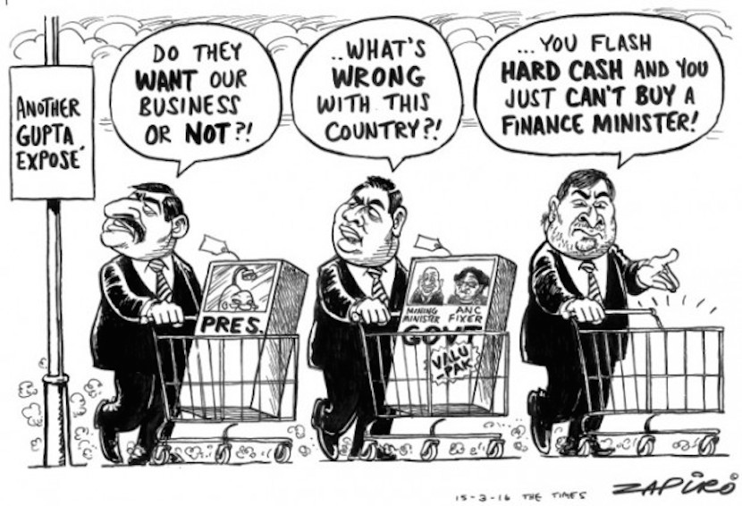 Guptas doing business in South Africa. More Zapiro magic at www.zapiro.com.