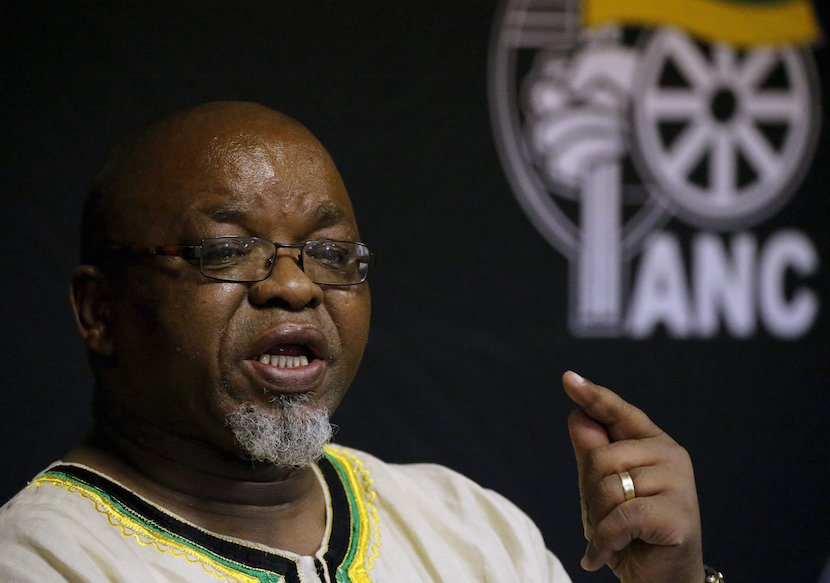 African National Congress (ANC) Secretary General Gwede Mantashe. REUTERS/Siphiwe Sibeko