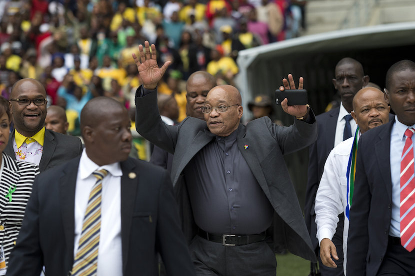 South African President Jacob Zuma arrives at a Human Rights Day rally in Durban, South Africa, March 21, 2016. REUTERS/Rogan Ward