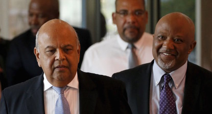 KPMG global chief jets into SA to meet Gordhan. New corruption unit tops agenda.