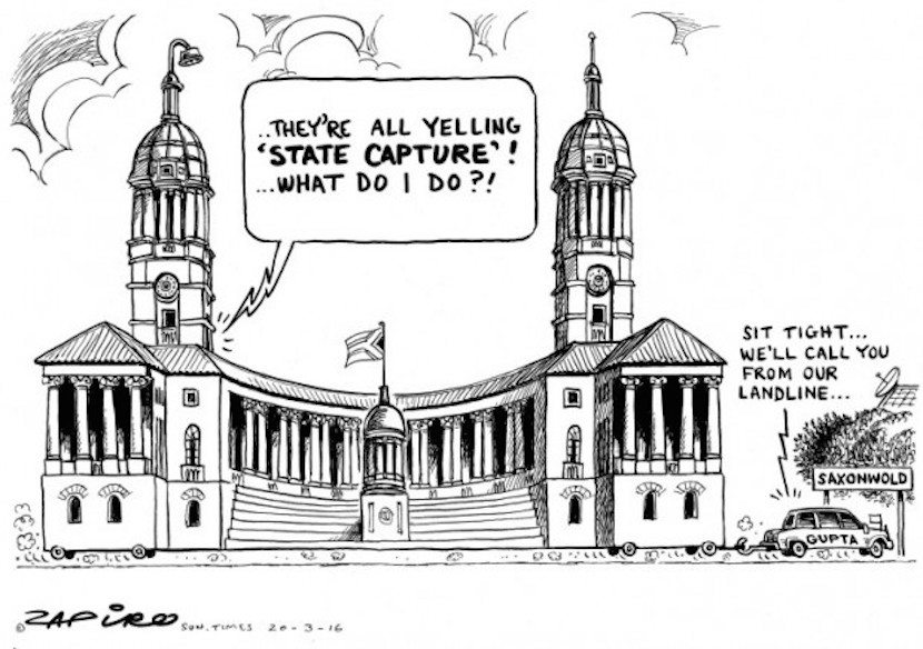 Zapiro's latest take on State Capture. More magic available at zapiro.com