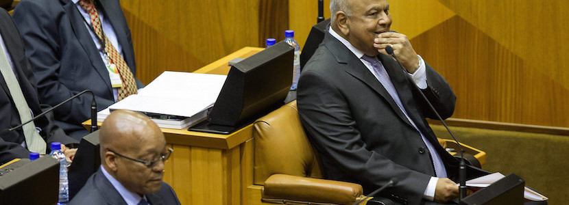 Zuma says no war against Gordhan – then attacks newspaper with inside track