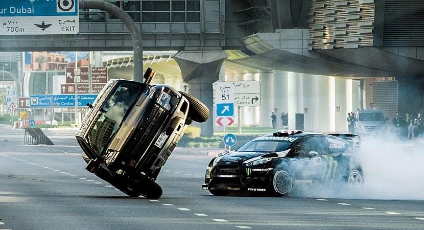 Ken Block's hooligan-like Gymkhana 8 – ripping up the streets of Dubai