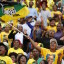 Supporters of South African President Jacob Zuma's ruling African National Congress (ANC) cheer at a rally to launch the ANC's local government election manifesto in Port Elizabeth, April 16, 2016. REUTERS/Mike Hutchings