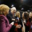 Warren Buffett talks to reporters as he tours the exhibit hall during the Berkshire Hathaway Annual Shareholders Meeting at the CenturyLink Center in Omaha, Nebraska, U.S. April 30, 2016. REUTERS/Ryan Henriksen