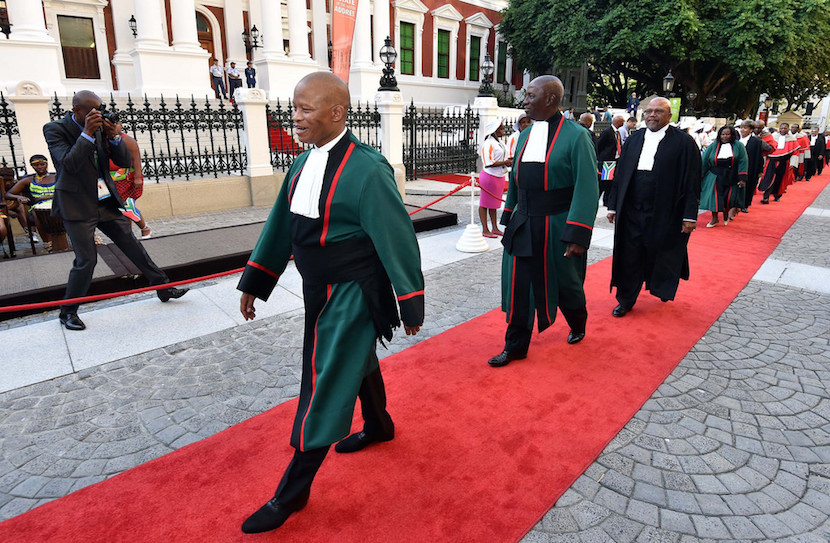 File photo: Chief Justice Mogoeng Mogoeng arrives at the State of the Nation address.